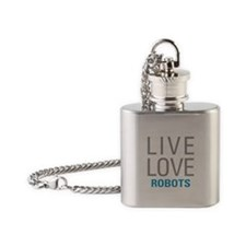 Live Love Robots Flask Necklace