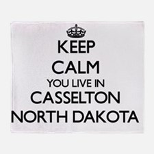 Keep calm you live in Casselton Nort Throw Blanket