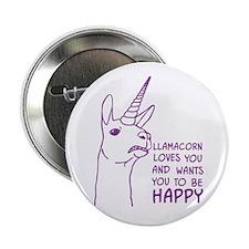 "Llamacorn Loves You 2.25"" Button"