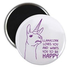 Llamacorn Loves You Magnets