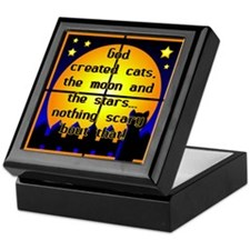 God Created Black Cats Keepsake Box