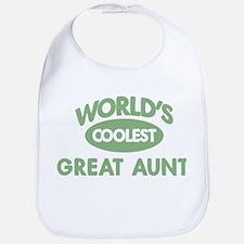 Coolest GREAT AUNT Bib