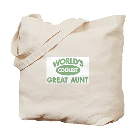 Coolest GREAT AUNT Tote Bag