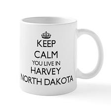 Keep calm you live in Harvey North Dako Mug