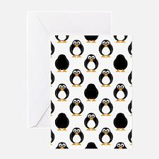 Cute Penguin Pattern Greeting Card