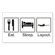 Eat, Sleep, Layout Rectangle Decal
