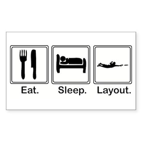 Eat, Sleep, Layout Rectangle Sticker