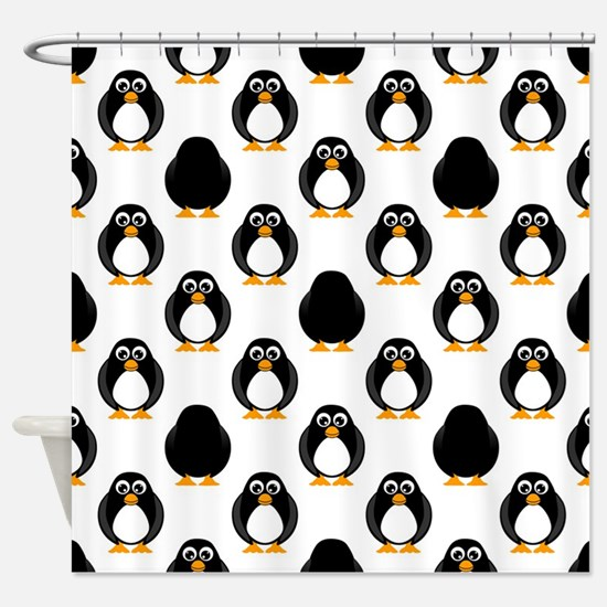 Cute Penguin Pattern Shower Curtain