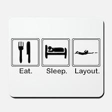 Eat, Sleep, Layout Mousepad