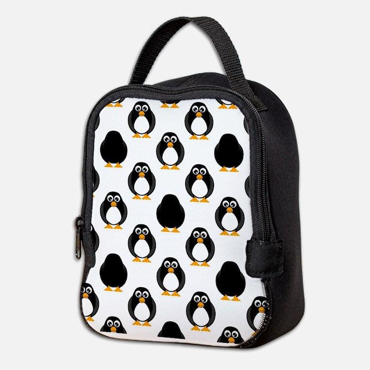 Cute Penguin Pattern Neoprene Lunch Bag