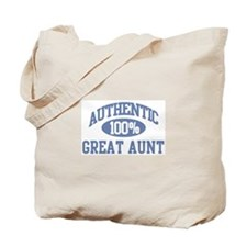 Authentic Great Aunt Tote Bag