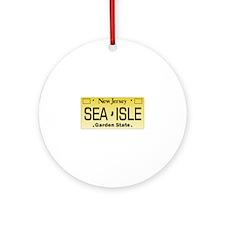 Sea Isle City NJ Tag Gifts Ornament (Round)