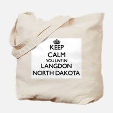 Keep calm you live in Langdon North Dakot Tote Bag