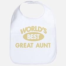 Worlds Best GREAT AUNT Bib