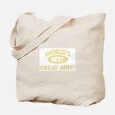 Worlds Best GREAT AUNT Tote Bag