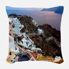 Oia Sunset Woven Throw Pillow