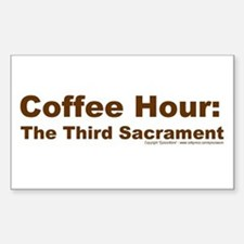 Coffee Hour Rectangle Stickers