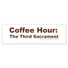 Coffee Hour Bumper Bumper Sticker