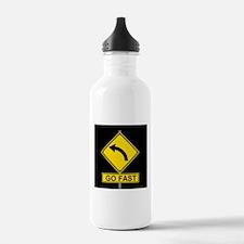 Go Fast, Turn Left Water Bottle