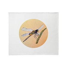 Dragonfly Portrait Throw Blanket