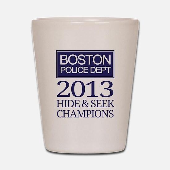 Boston Hide and Seek Champions Shot Glass