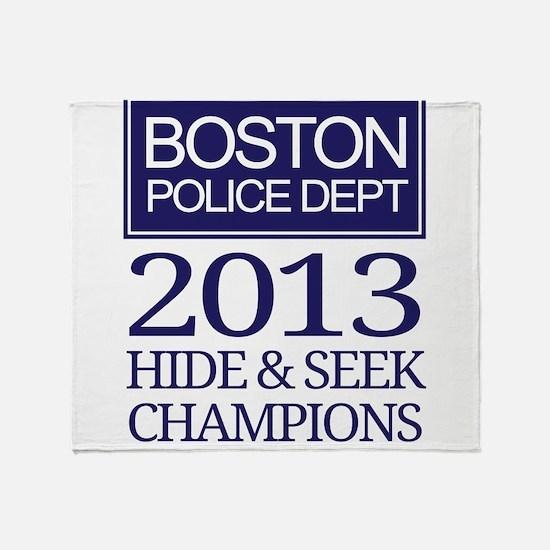 Boston Hide and Seek Champions Throw Blanket