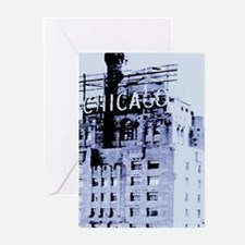 Chicago Blue Greeting Cards
