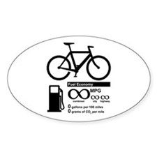 Bicycle Infinity MPG Fuel Economy Decal