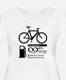Bicycle Infinity MPG Fuel Economy Plus Size T-Shir