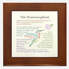 The Hummingbird Framed Tile