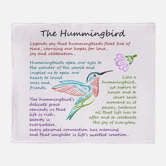 The Hummingbird Throw Blanket