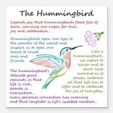 "The Hummingbird Square Car Magnet 3"" x 3"""