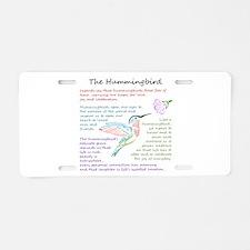 The Hummingbird Aluminum License Plate