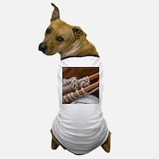 Knitting Needles Dog T-Shirt