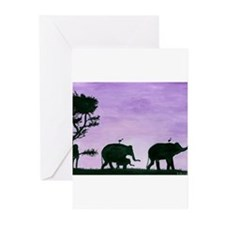 Unique Elephants Greeting Cards (Pk of 20)