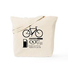 Bicycle Infinity MPG Fuel Economy Tote Bag