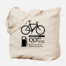 Bicycle Infinity MPG Fuel Economy Tote Bag