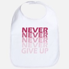 Never Give Up Pink Dark Bib