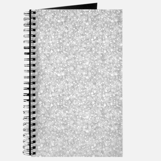 Silver Gray Glitter Sparkles Journal
