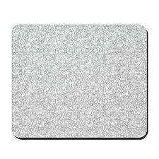 Silver Gray Glitter Sparkles Mousepad