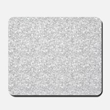 Silver Gray Glitter Sparkles Mousepad