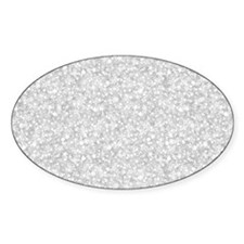 Silver Gray Glitter Sparkles Decal