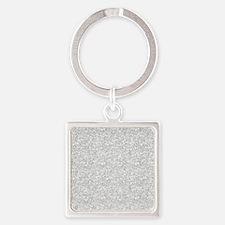Silver Gray Glitter Sparkles Keychains