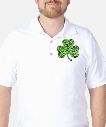 Irish Shamrock of Shamrocks for St. Pat Golf Shirt