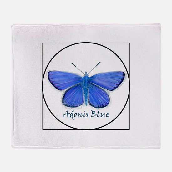 Adonis blue butterfly (Lysandra bellargus) Throw B