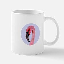 Pink Flamingo Gouche Portrait Mugs