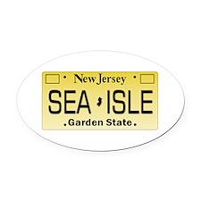 Sea Isle City NJ Tag Gifts Oval Car Magnet
