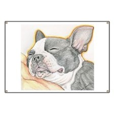 Sleepy Boston Terrier Banner