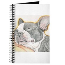 Sleepy Boston Terrier Journal