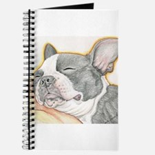 Sleepy Boston Terrier Journal
